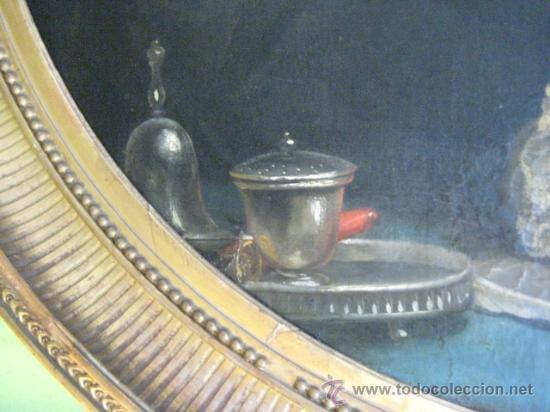 Arte: Impresionante retrato de caballero,( abate?) frances S. XVIII finales, Oleo sobre lienzo - Foto 9 - 30735016