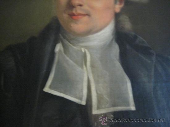 Arte: Impresionante retrato de caballero,( abate?) frances S. XVIII finales, Oleo sobre lienzo - Foto 5 - 30735016
