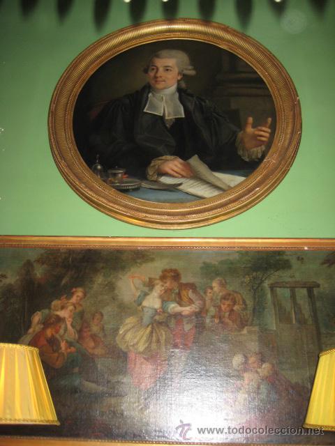 Arte: Impresionante retrato de caballero,( abate?) frances S. XVIII finales, Oleo sobre lienzo - Foto 14 - 30735016