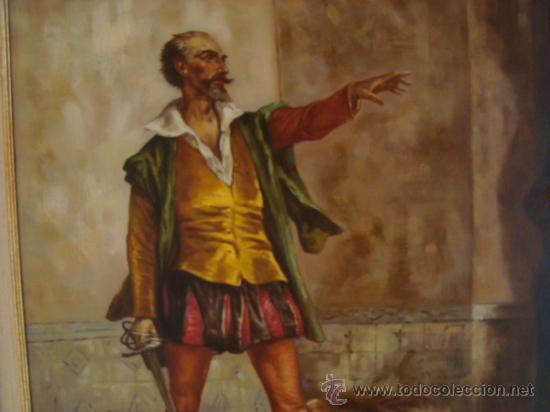 Arte: PINTURA AL OLEO, DON QUIJOTE DE LA MANCHA, CERVANTES,RICARDO BALACA.OBRA UNICA Y EXCLUSIVA - Foto 5 - 27870832