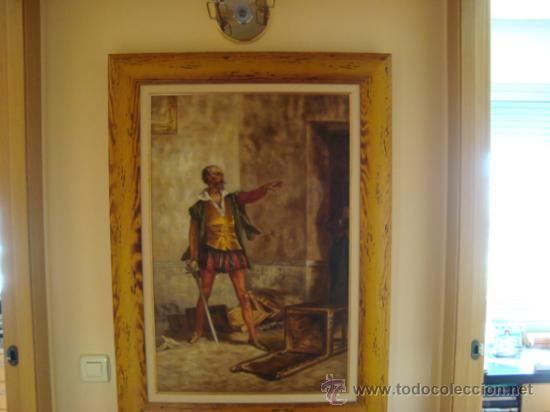 Arte: PINTURA AL OLEO, DON QUIJOTE DE LA MANCHA, CERVANTES,RICARDO BALACA.OBRA UNICA Y EXCLUSIVA - Foto 3 - 27870832