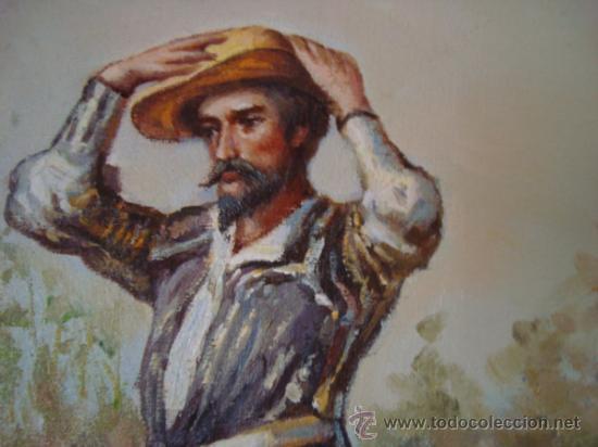 Arte: CUADRO: OLEO DON QUIJOTE A CABALLO, COLECCION PRIVADA, reproduce a RICARDO BALACA 60 x 90 cm arpox - Foto 6 - 27870897