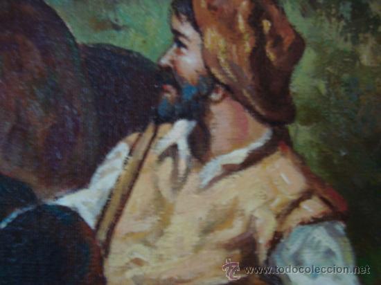Arte: CUADRO: OLEO DON QUIJOTE A CABALLO, COLECCION PRIVADA, reproduce a RICARDO BALACA 60 x 90 cm arpox - Foto 7 - 27870897