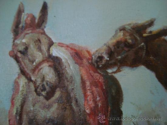 Arte: CUADRO: OLEO DON QUIJOTE A CABALLO, COLECCION PRIVADA, reproduce a RICARDO BALACA 60 x 90 cm arpox - Foto 5 - 27870897