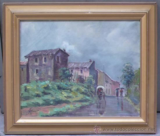 J.COLOMER, 1956, PAISAJE, ÓLEO SOBRE LIENZO, MARCO: 49X59 CM. (Arte - Pintura - Pintura al Óleo Contemporánea )