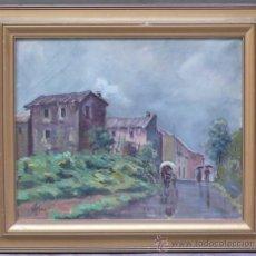 Arte: J.COLOMER, 1956, PAISAJE, ÓLEO SOBRE LIENZO, MARCO: 49X59 CM.. Lote 30784993