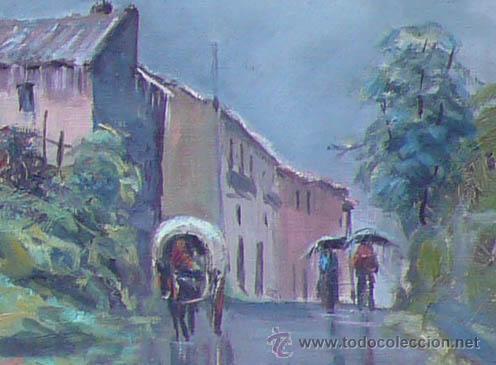Arte: J.Colomer, 1956, paisaje, óleo sobre lienzo, marco: 49x59 cm. - Foto 4 - 30784993