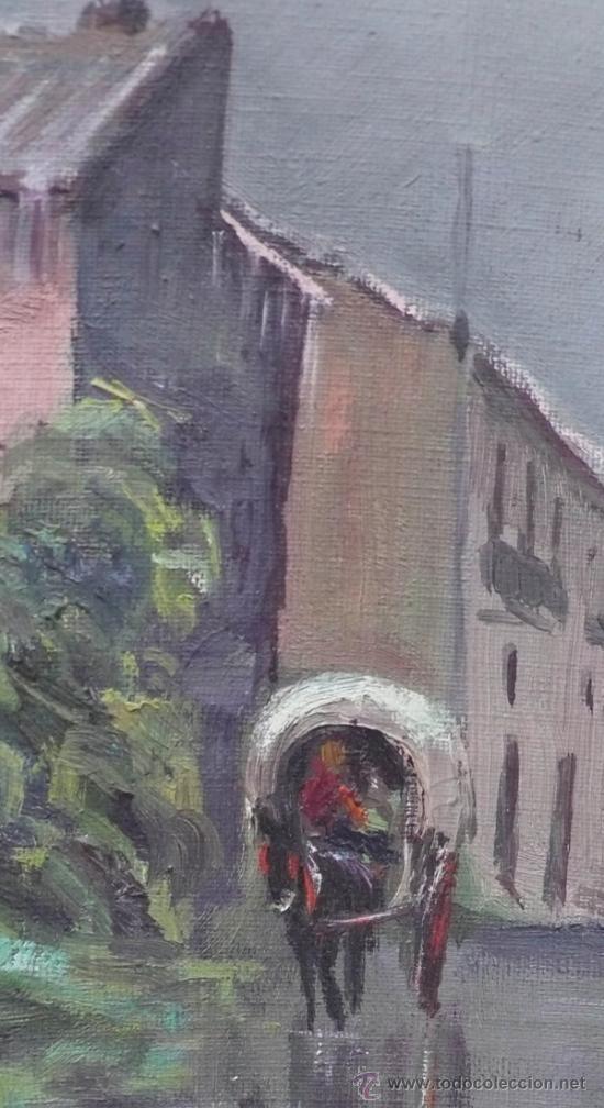 Arte: J.Colomer, 1956, paisaje, óleo sobre lienzo, marco: 49x59 cm. - Foto 5 - 30784993