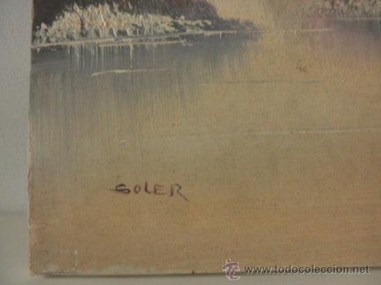 Arte: OLEO SOBRE LIENZO FIRMADO SOLER * PAISAJE * EN BASTIDOR - Foto 3 - 30786787