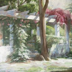 Arte: DOMINGO CORREA. 'BUGANVILLA II'. ÓLEO / LIENZO. 73 X 60 CM. PAISAJE.. Lote 30798204