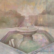 Arte: DOMINGO CORREA. ÓLEO. 'FUENTE O SURTIDOR II' 65X65. PAISAJE. JARDÍN DEL PRÍNCIPE. ALCÁZAR.. Lote 30878522