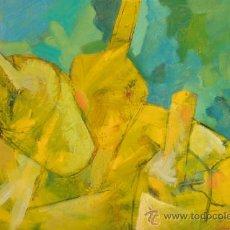Arte: ÓLEO. 'AMARILLO Y TURQUESA' FIGURACIÓN. PINTURA. DOMINGO CORREA.. Lote 30888297