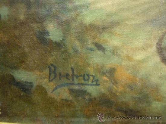 Arte: OLEO SOBRE LIENZO FIRMADO BRETON. FINALES SIGLO XIX - Foto 8 - 30902037