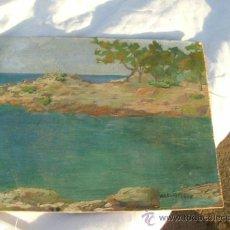Arte: OLEO IMPRESIONISTA,FIRMA ILEGIBLE,1946. Lote 30914540
