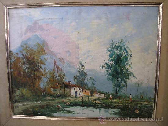 Arte: pintura contemporanea, oleo sobre lienzo, firmado (enmarcado, 39,5x48cm aprox) - Foto 2 - 31072207