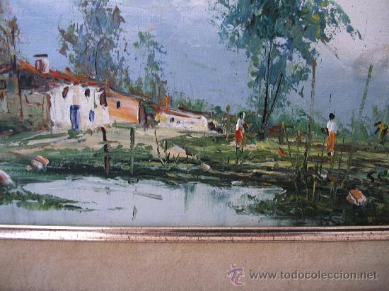 Arte: pintura contemporanea, oleo sobre lienzo, firmado (enmarcado, 39,5x48cm aprox) - Foto 3 - 31072207