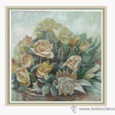 Arte: ÓLEO / LIENZO. 'ROSAS EN PRIMER PLANO', DOMINGO CORREA. Lote 31077877