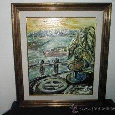 Arte: (T)-PRECIOSO CUADRO AL OLEO DE-XOSE LOIS GOMEZ RIVADA-72X63-54X44 CMS.-PERFECTO. Lote 31088411