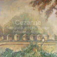 Arte: ÓLEO LIENZO. 'MURALLAS DEL ALCÁZAR, JARDINES DE MURILLO'. DOMINGO CORREA. Lote 31098643