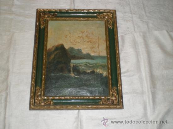 CUADRO PINTURA AL OLEO MARINA (Arte - Pintura - Pintura al Óleo Antigua sin fecha definida)
