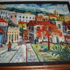 Arte: OLEO PINTADO POR EL PINTOR CUBANO ANTONIO CANET. . Lote 31541556