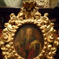 Arte: OLEO SOBRE COBRE QUE REPRESENTA A LUIS I DE BORBON REY DE ESPAÑA 1707 -1724 EN MAGNIFICA CURNUCOPIA. Lote 31594585