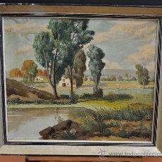 Arte: A. COSTA. OLEO SOBRE TELA. FECHADO DE 1922. PAISAJE. . Lote 31699594