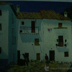 Arte: OLEO, PLAZA GUEJAR SIERRA. MOLINA BALDERAS. AÑOS 70.. Lote 31777961