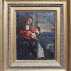 Arte: CUADRO ANTIGUO OLEO SOBRE COBRE POSIBLEMENTE SIGLO XVIII. Lote 31826446