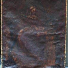 Arte: PIEDAD DEL S. XVIII, ÓLEO SOBRE TELA 97X84 CM. MUY ESTROPEADA. .. Lote 31952624
