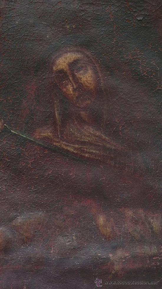 Arte: Piedad del s. XVIII, óleo sobre tela 97x84 cm. Muy estropeada. . - Foto 2 - 31952624