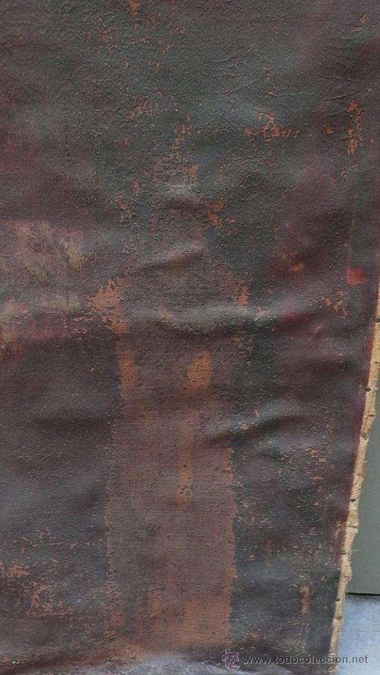 Arte: Piedad del s. XVIII, óleo sobre tela 97x84 cm. Muy estropeada. . - Foto 5 - 31952624