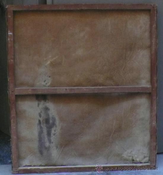 Arte: Piedad del s. XVIII, óleo sobre tela 97x84 cm. Muy estropeada. . - Foto 4 - 31952624