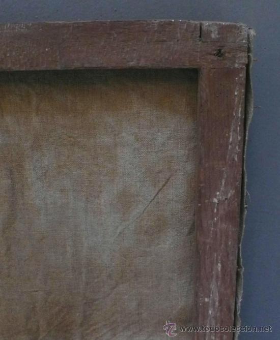 Arte: Piedad del s. XVIII, óleo sobre tela 97x84 cm. Muy estropeada. . - Foto 3 - 31952624