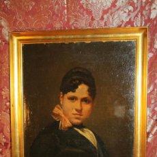 Arte: E4-019. O/L DEL AFAMADO PINTOR PERE BORRELL DEL CASO RETRATO DE DAMA S.XIX. Lote 31983399