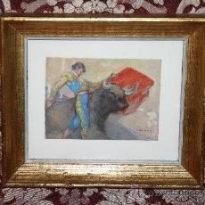 Arte: O2-001. O/CARTÓN FIRMADO VICENTE NAVARRO (1888 - 1979) TEMA TAURINO PRIMER TERCIO DEL S.XX. Lote 31990844