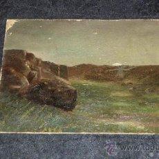 Arte: ANONIMO DE 1900S. OLEO SOBRE CARTON DURO. PAISAJE. . Lote 32043009