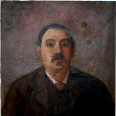 Arte: RETRATO AL ÓLEO SOBRE LIENZO - FDO. ANTONI UTRILLO ( 1867 - 1944 ) PARA RESTAURAR. Lote 32057044