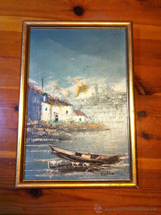OLEO SOBRE TABLA FIRMADO GUILLEM (Arte - Pintura - Pintura al Óleo Antigua sin fecha definida)