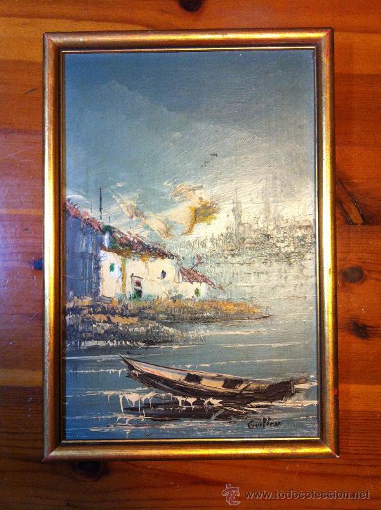 Arte: oleo sobre tabla firmado Guillem - Foto 2 - 32067134