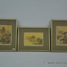 Arte: 3 CUADROS DE PINTURA ORIENTAL. Lote 32350036