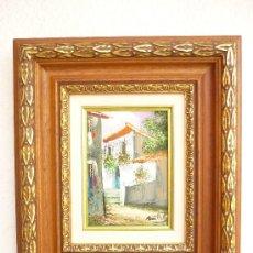 Arte: OLEO CON MARCO DE MADERA . OLEO 13X18CM. MARCO 38X33CM.. Lote 32375868