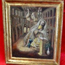 Arte: JOSÉ PICÓ MITJANS (MADRID, 1904 - 1991) OLEO SOBRE TELA FECHADO DEL AÑO 1952. ESCENA CON LA VIRGEN. Lote 32405339