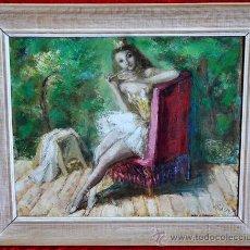 Arte: JOSÉ PICÓ MITJANS (MADRID, 1904 - 1991) OLEO SOBRE TELA FECHADO DEL AÑO 1952. BAILARINA. Lote 32409776