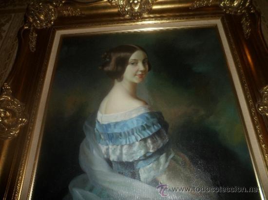 PINTURA DE DAMA COLONIAL VICTORIANA [ENROLLADO SIN MARCO] (Arte - Pintura - Pintura al Óleo Moderna sin fecha definida)