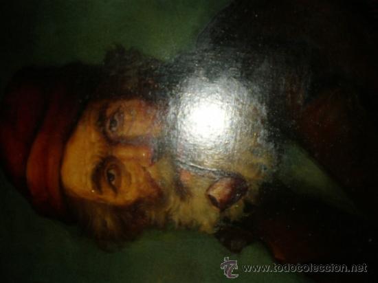 Arte: pintura al oleo señor con barba y pipa firmado oller - Foto 6 - 32475840