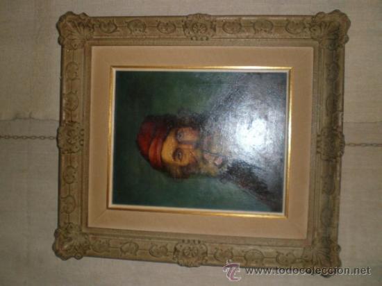 Arte: pintura al oleo señor con barba y pipa firmado oller - Foto 4 - 32475840