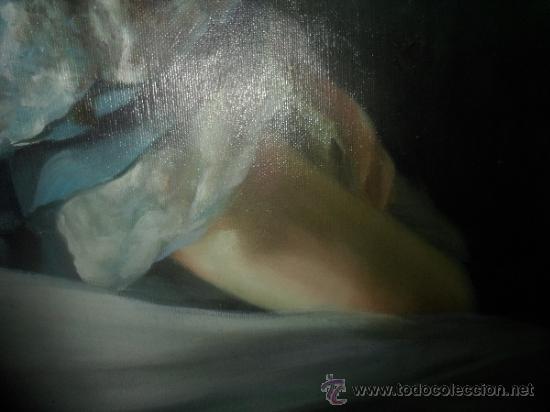 Arte: PINTURA DE DAMA COLONIAL VICTORIANA [ENROLLADO SIN MARCO] - Foto 6 - 37912298