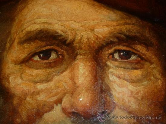 Arte: pintura al oleo señor con barba y pipa firmado oller - Foto 23 - 32475840
