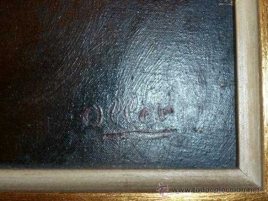 Arte: pintura al oleo señor con barba y pipa firmado oller - Foto 15 - 32475840
